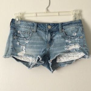 AE super low shortie shorts size size 4
